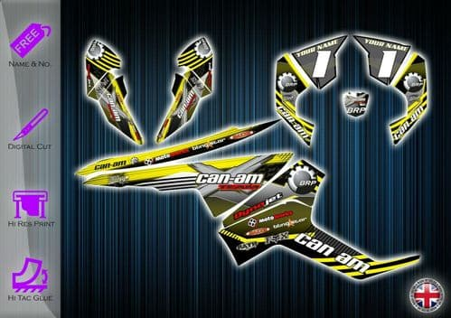 CAN AM RENEGADE STICKERS - GRAPHICS KIT - DECALS CANAM RENEGADE ATV GRAPHICS KIT - 233938966759